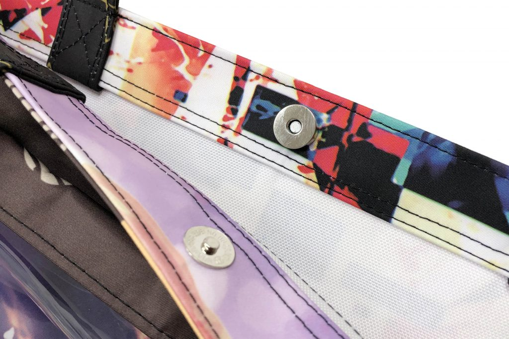 PVCポケット付きトートバッグ
